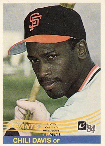 1984 Donruss #114 - Chili Davis - Giants