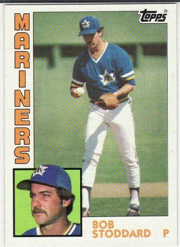 1984 Topps #439 - Bob Stoddard - Mariners