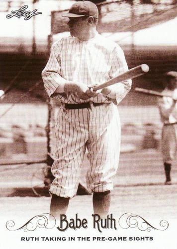 2016 Leaf Babe Ruth Collection #51 - Babe Ruth - Yankees