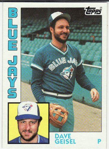 1984 Topps #256 - Dave Geisel - Blue Jays