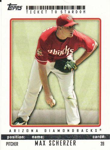 2009 Topps Ticket To Stardom #39 - Max Scherzer - Diamondbacks