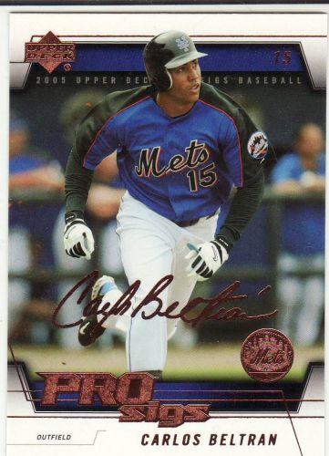 2005 Upper Deck Pro Sigs #50 - Carlos Beltran - Mets