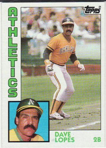 1984 Topps #669 - Dave Lopes - Athletics