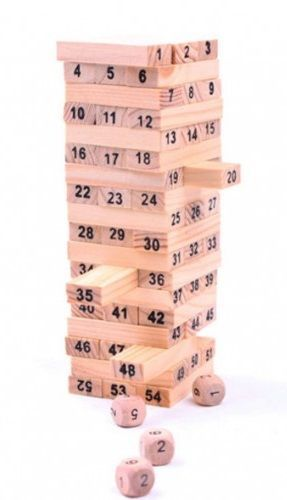 54pcs Mini Wooden Tower