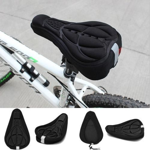 Bike bicycle 3D silicone saddle Seat ultra soft cushion cover pad