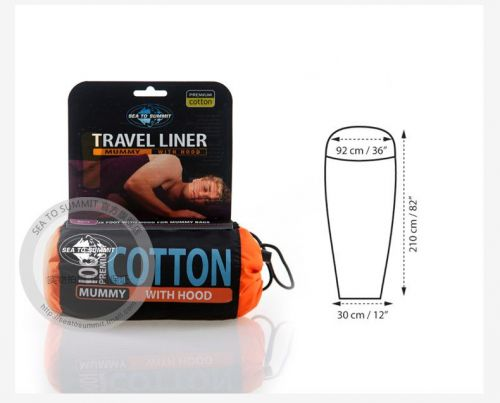 sea to summit outdoor cotton sleeping bag liner