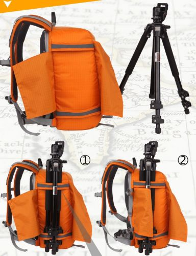 Back-open security Professional Waterproof SLR Camera Backpack with rain cover