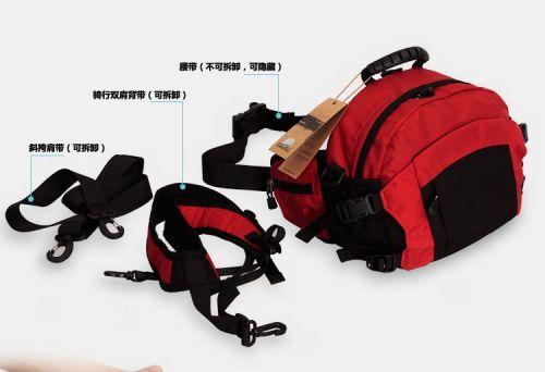 Carrell waterproof outdoor photography diagonal pockets SLR camera backpack