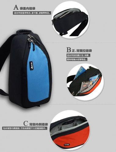 Mekava photography small SLR camera shoulder messenger chest bag