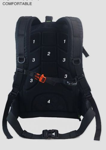 flyleaf security camera Professional SLR backpack large capacity with rain cover