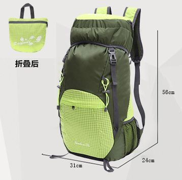 5 color outdoors hiking 40L large capacity folding backpack