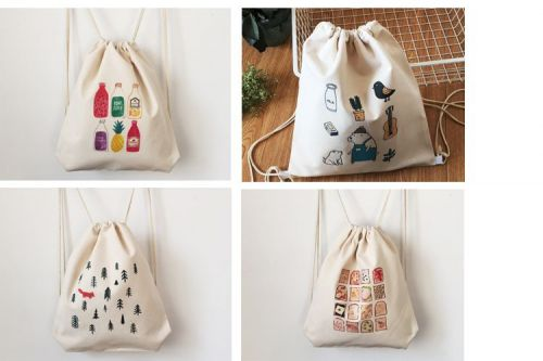 Comics Series canvas drawstring backpack