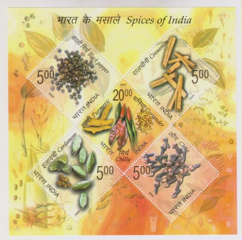 INDIA M/S MINIATURE SHEET SPICES OF INDIA YEAR 2009 MNH MINT NEVER HINGED