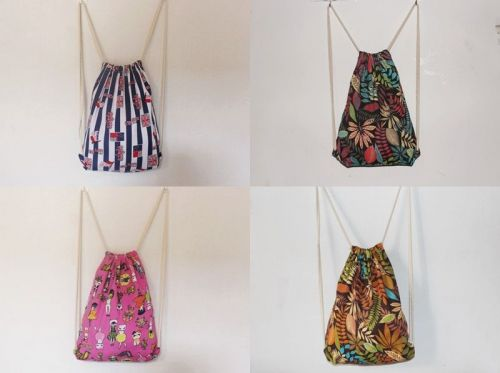 Retro canvas tote drawstring backpack