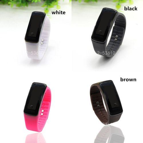Fashion Unisex Sport LED Waterproof Rubber Bracelet Digital Wrist Watch