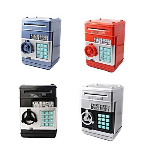 Kiddy Electronic Money Safe Box Password Saving ATM for Coins bills