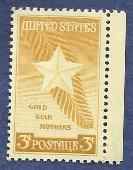 US 3 cent Stamp Gold Star Mothers 1948 - Scott's 969