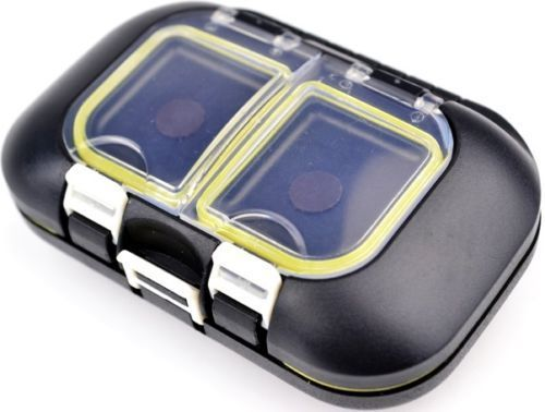 Fly Fishing Lures Hook Box Waterproof 9 Compartments Fish Tackle Accessory