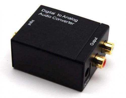 Digital Optical Coaxial Toslink Signal to Analog Audio Converter Adapter RCA L/R