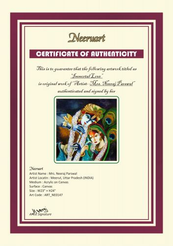 IMMORTAL LOVE- Radha and Krishna Original Painting