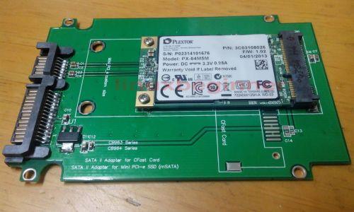 New PC 2.5 inch SATA 7+15 Pin male to 50 mm mSATA Mini PCI-E PCIE SSD Adapter Card