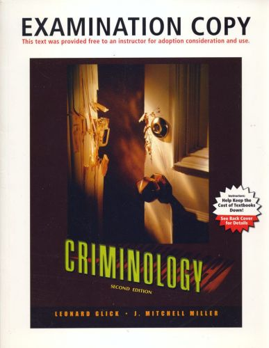 (NEW) Criminology: The Core 3rd INSTRUCTOR'S Examination Copy 9780205536931