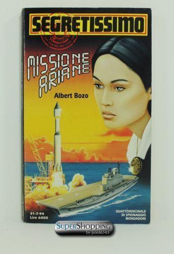 Italian book Segretissimo n. 1259 Missione Ariane libro