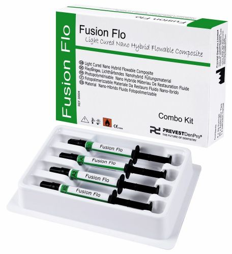 Fusion Flo Combo kit Light Cured Universal Nano Flowable dental Composite