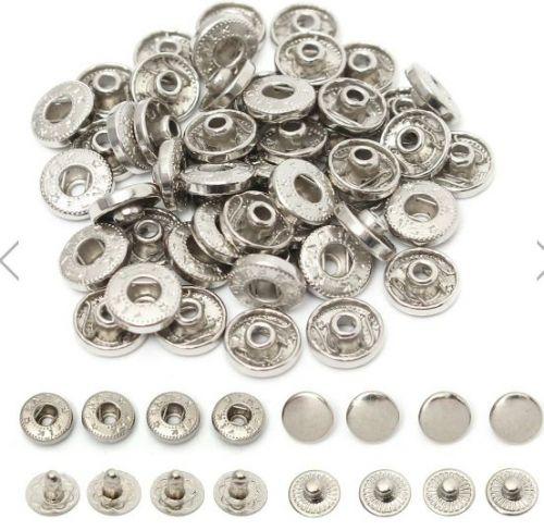 50 pieces snap buttons,metal