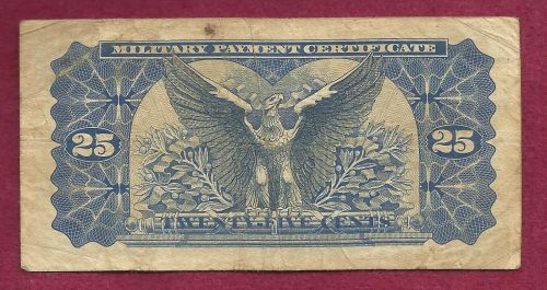 US 25 Cent Series 692 Military Payment Certificate E06536260E 1970-73