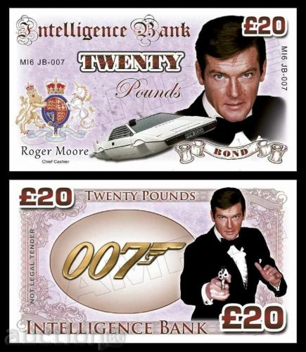20 pounds Roger Moore - James Bond