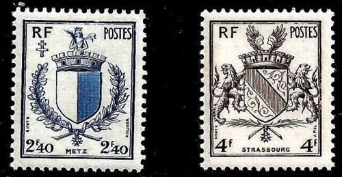 France Reunion of Metz and Strasbourg mnh