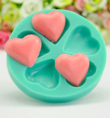 fashion heart cake silicone mold