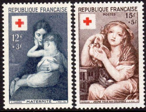 France Red Cross mnh 1954