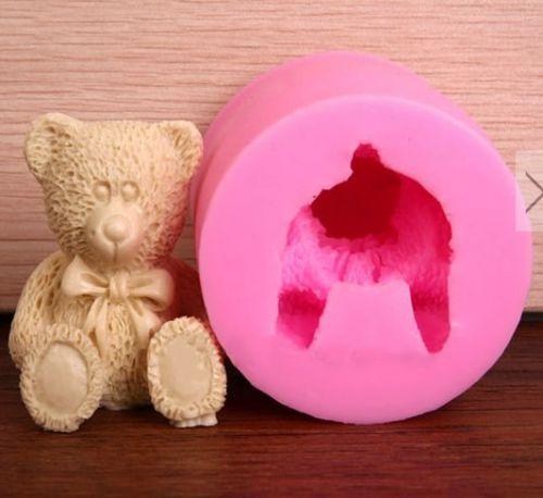 fashion 3D bear food silicone mold