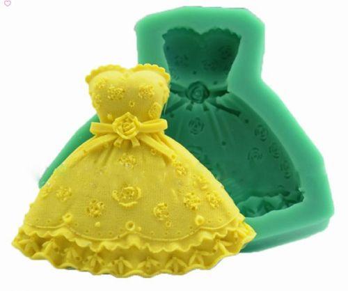 fashion dress cake silicone mold