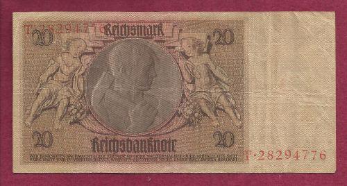 Germany 20 Reichmark 1929 Banknote #T28294776 - Werner Von Siemens / Watermark