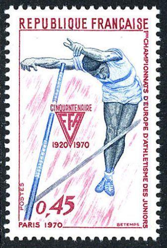 France Junior Athletic Championships mnh 1970