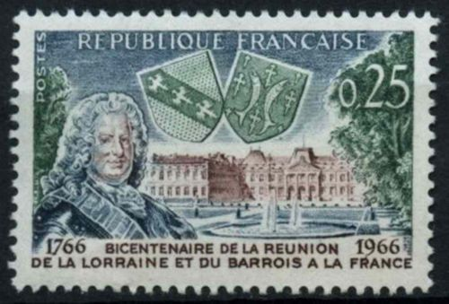 France Union of Loraine and Barrois with France mnh 1966