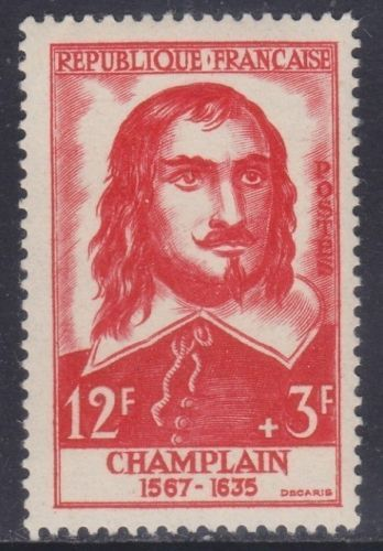 France Samuel de Champlain mnh 1956