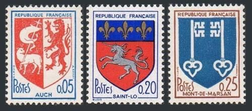 France Coat of Arms mnh 1966
