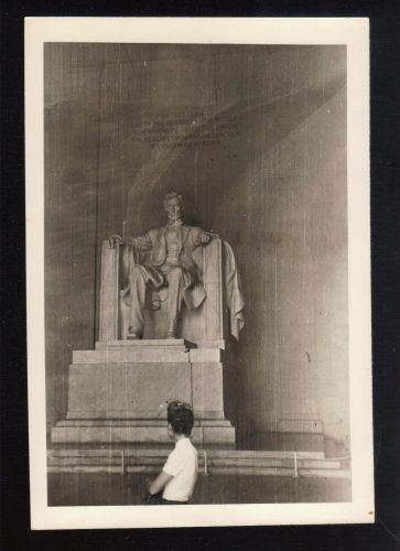 1939 Black And White Photo Of The Lincoln Memorial,Built 1914-1922