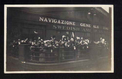 1925 Black And White Photo Navigazione Generale Italiana Swedish America Line