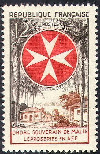 France Order of Malta - Leprosy Relief mnh 1956