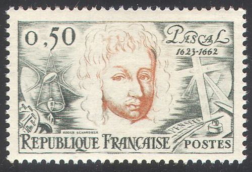 France Blaise Pascal mnh 1962