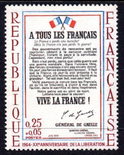 France Liberation mnh 1964