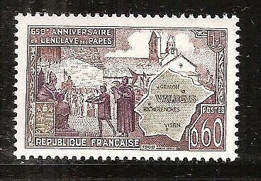 France Papal Enclave - Valréas mnh 1968