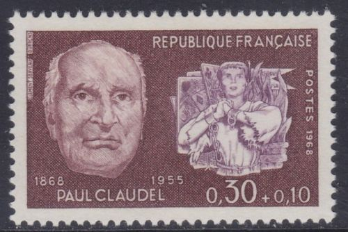 France Paul Claudel mnh 1968