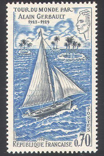 France Gerbault's World Voyage mnh 1970