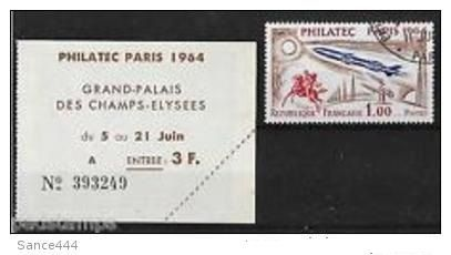 """France """"PHILATEC"""" Exhibition with ticket mnh 1964"""